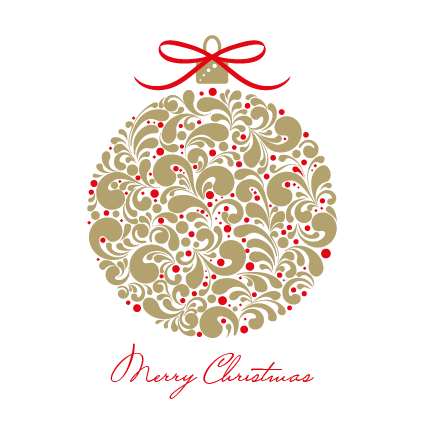 Gold Bauble Christmas Card 2021