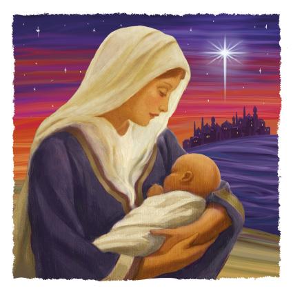 Madonna and New Born King Christmas Card 2021