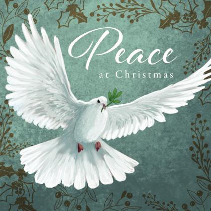 Peace at Christmas Dove Christmas Card 2021