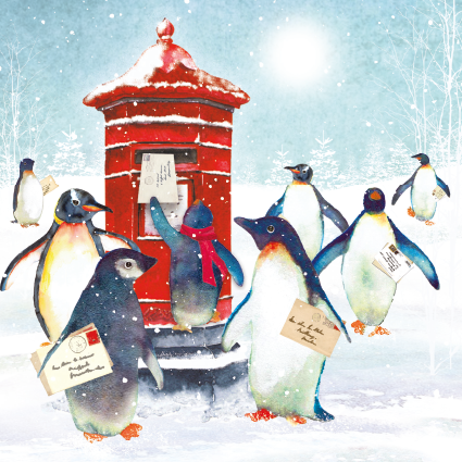 Penguin Post Christmas Card 2021