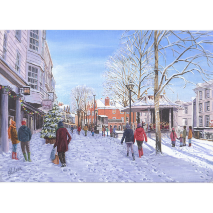 Pantiles on a winters day Christmas Card 2021