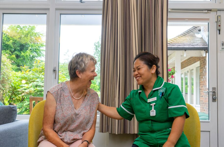Nurse and Patient laughing
