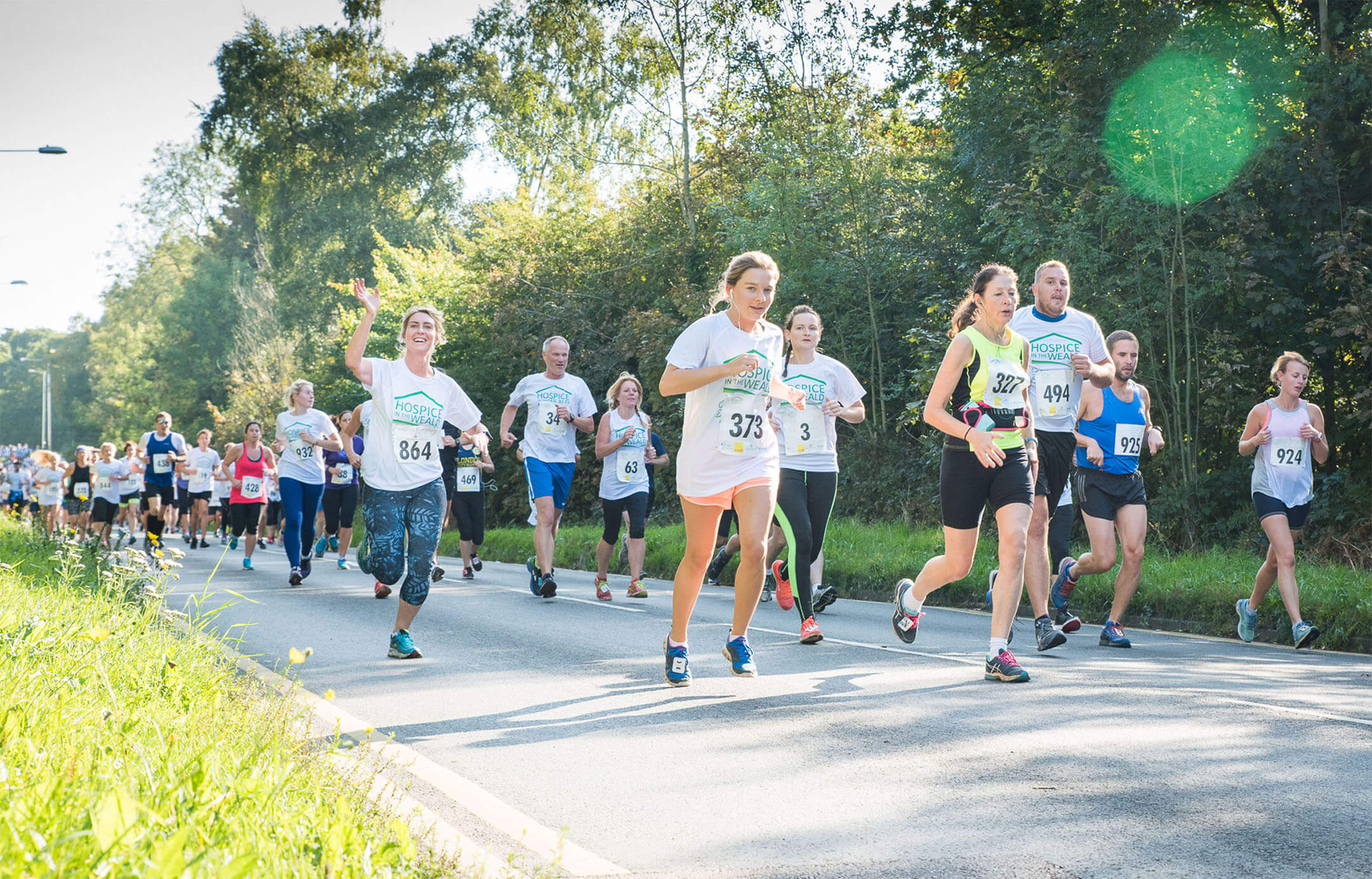 People in the hospice run
