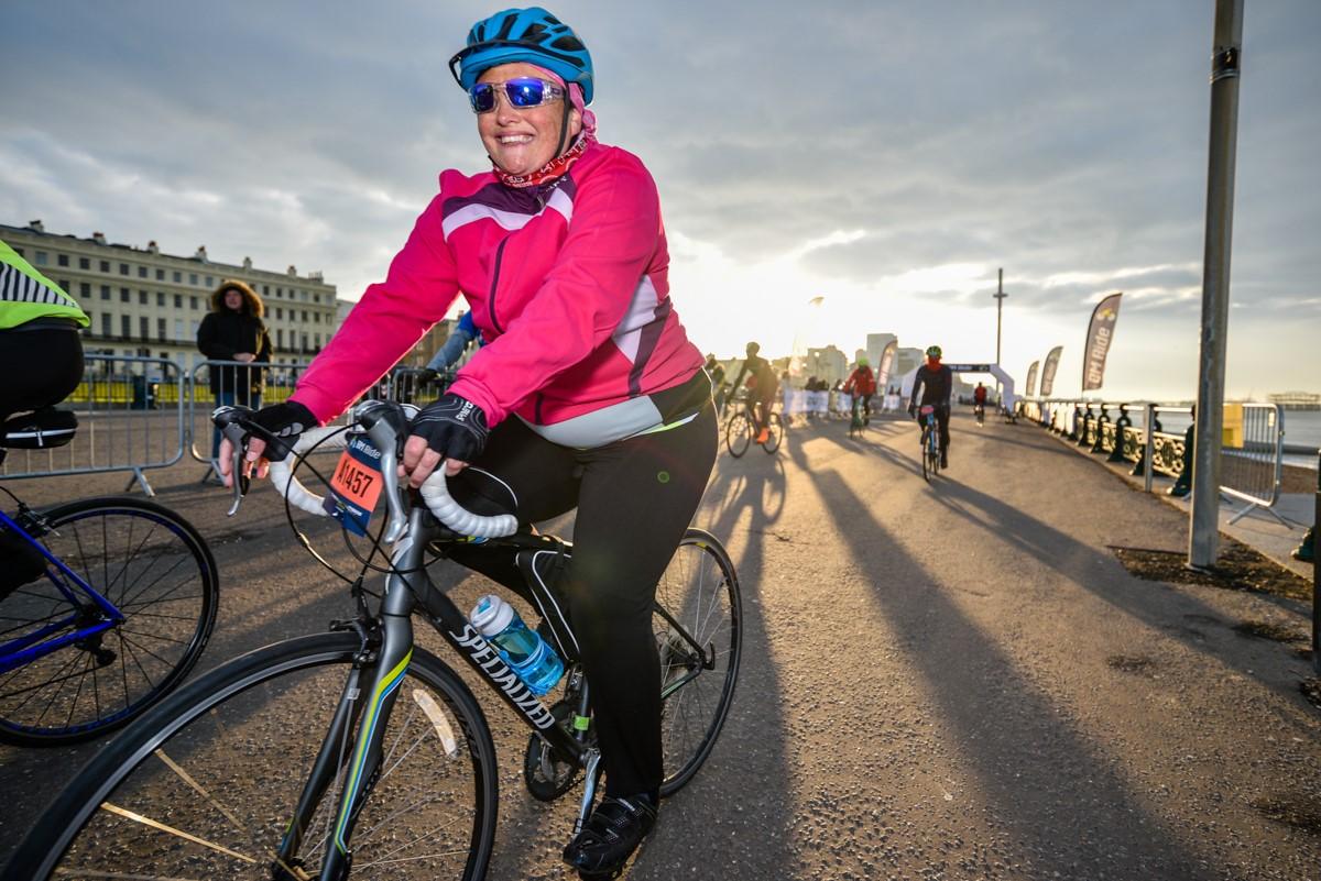 Brighton Ride one cyclist