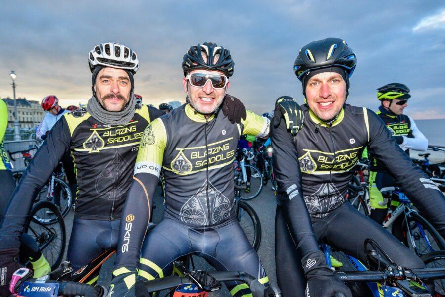 Brighton Ride three cyclists