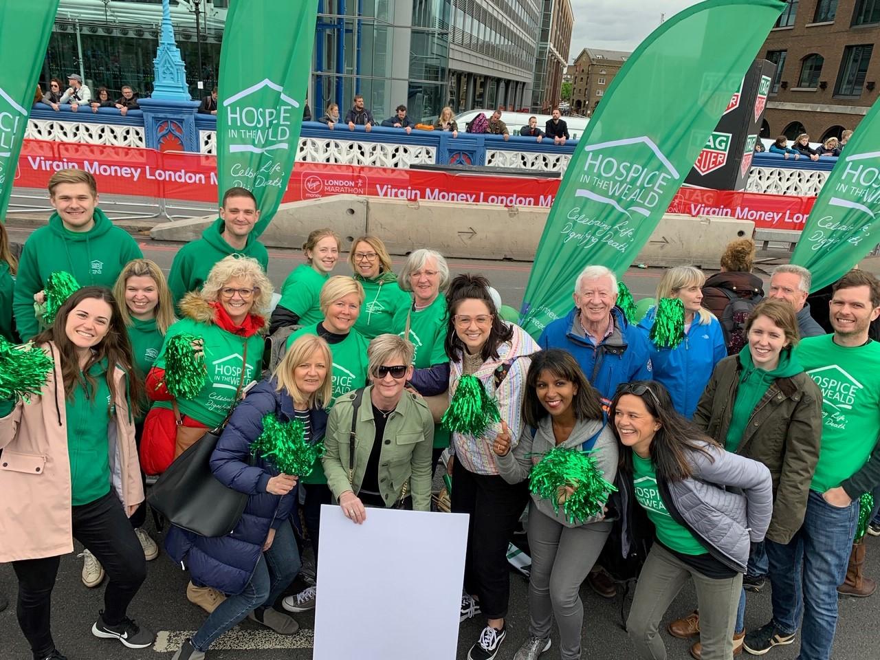 London Marathon cheer point staff