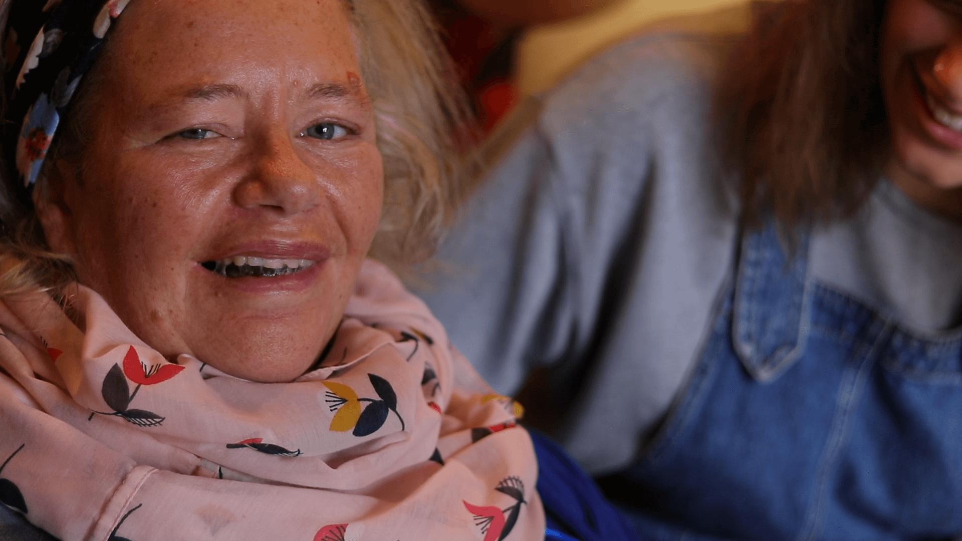 Jess mum Clare smiling