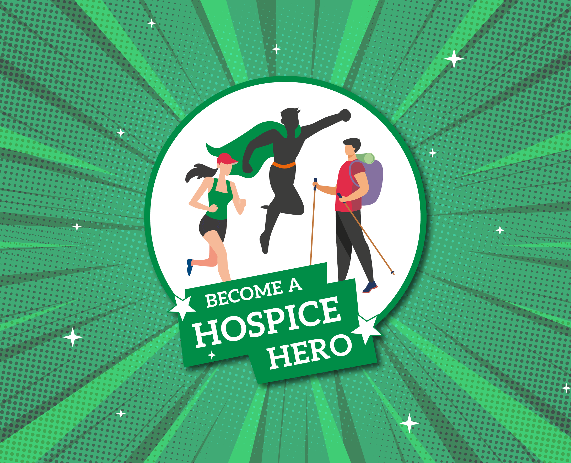 Comic book style hero badge