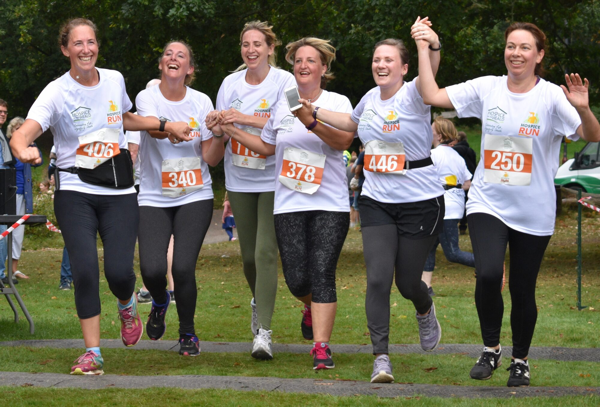 Row of Runners at Hospice Run