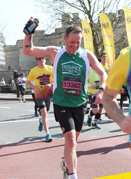 Matt running the London Landmarks Half Marathon