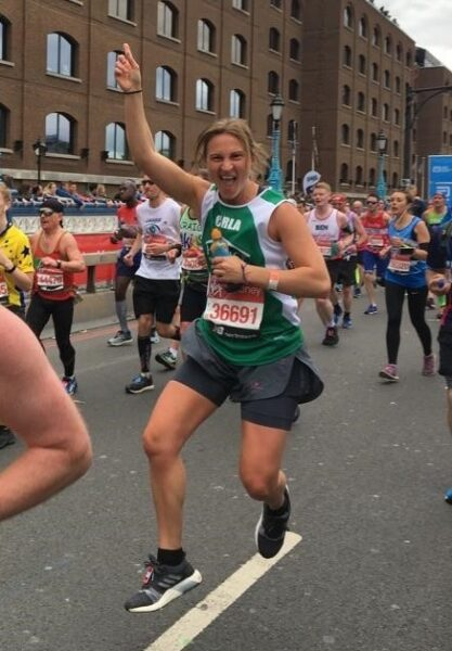Carla running the London Marathon
