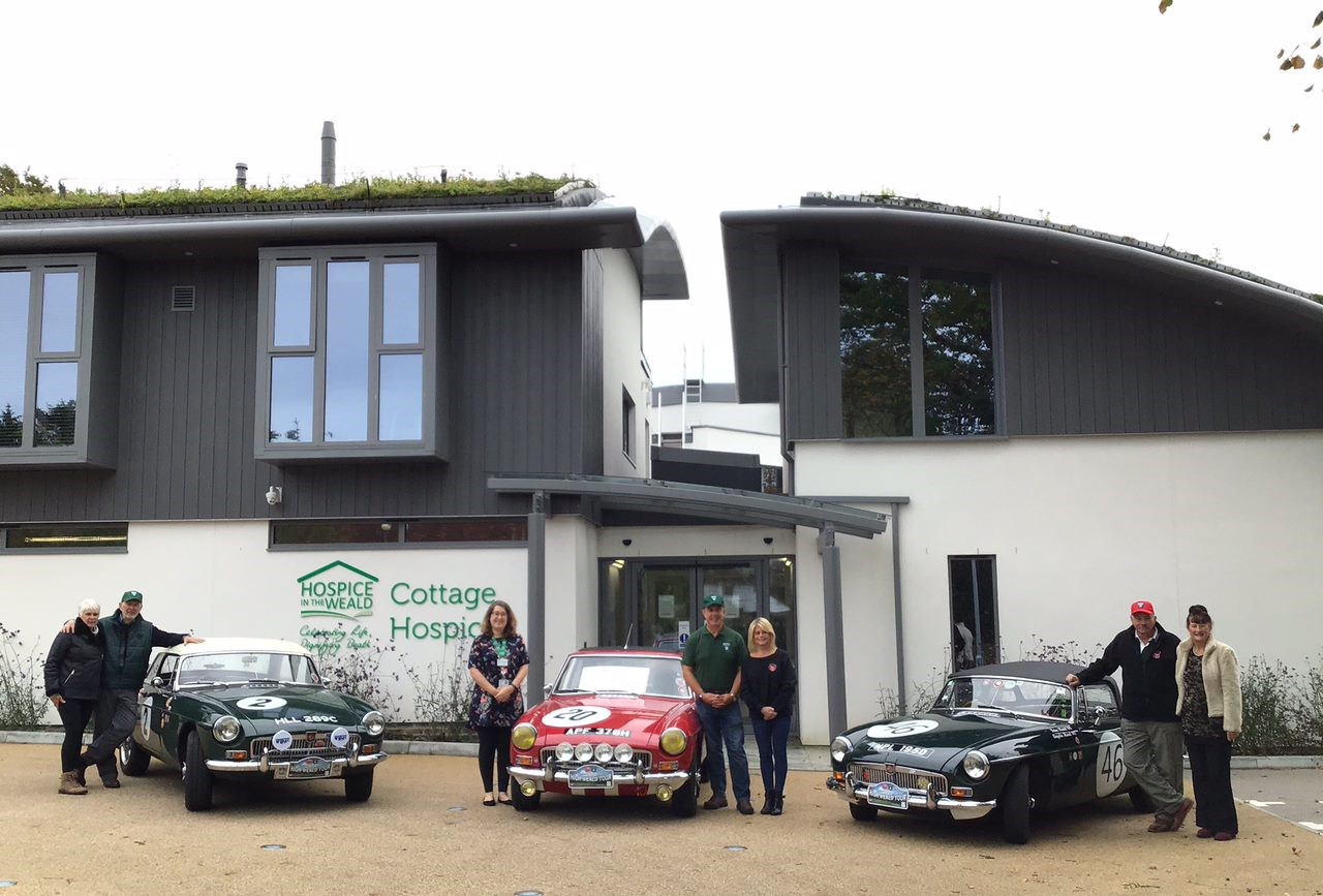 Three cars in front of Cottage Hospice