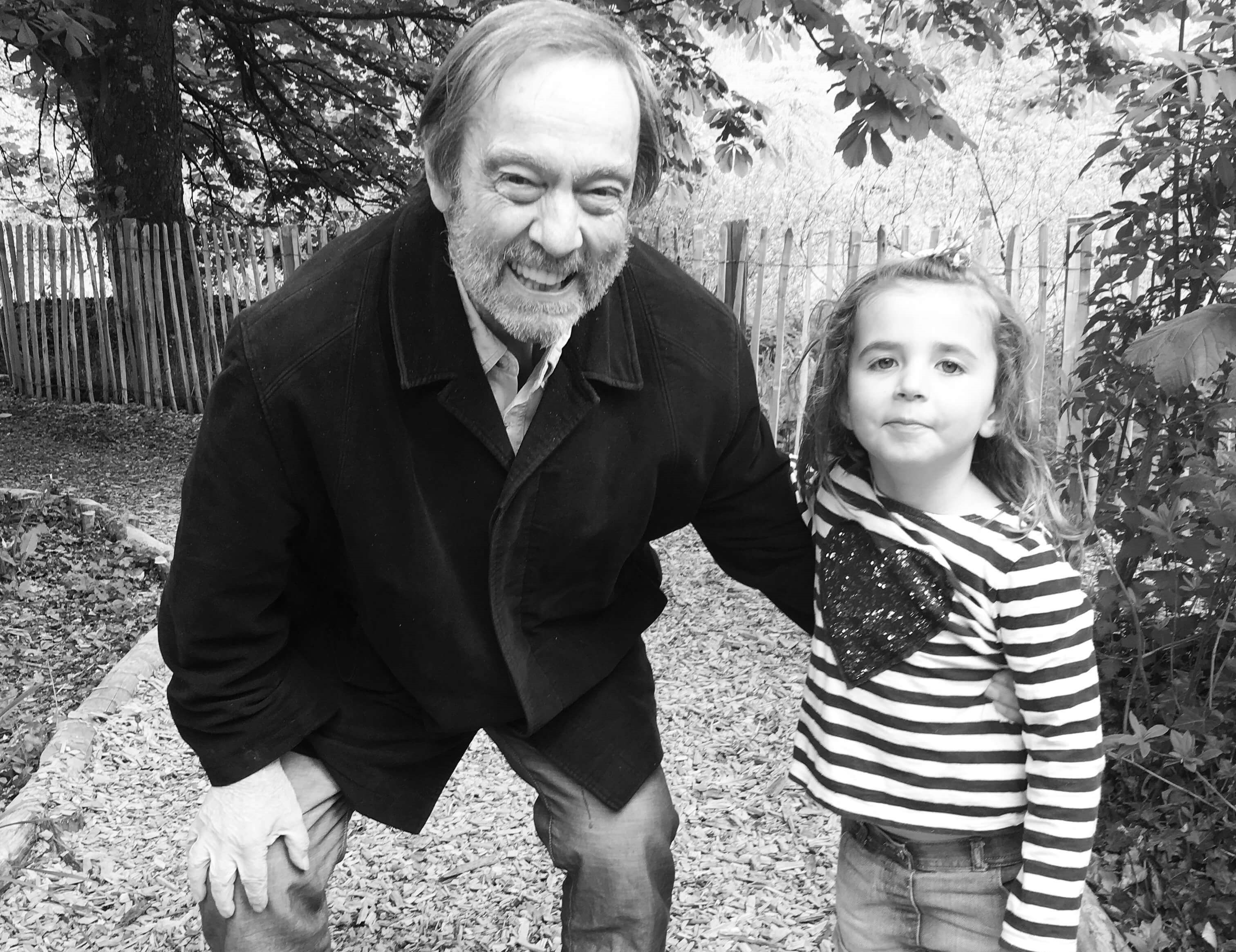 Nicole daughter Elodie with Nicole Dad