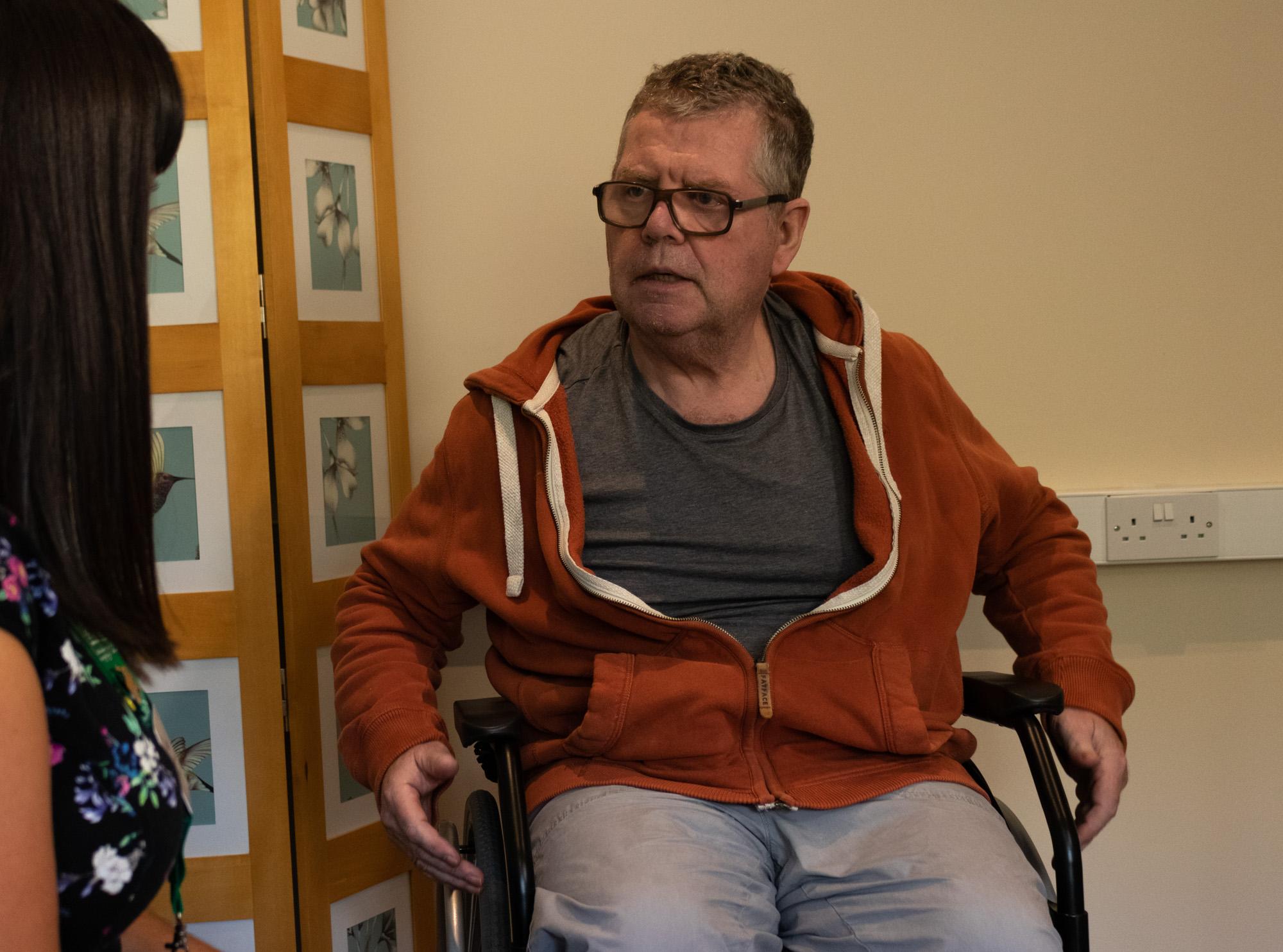 Patient in a wheelchair