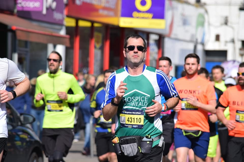 Rob running the Brighton Marathon