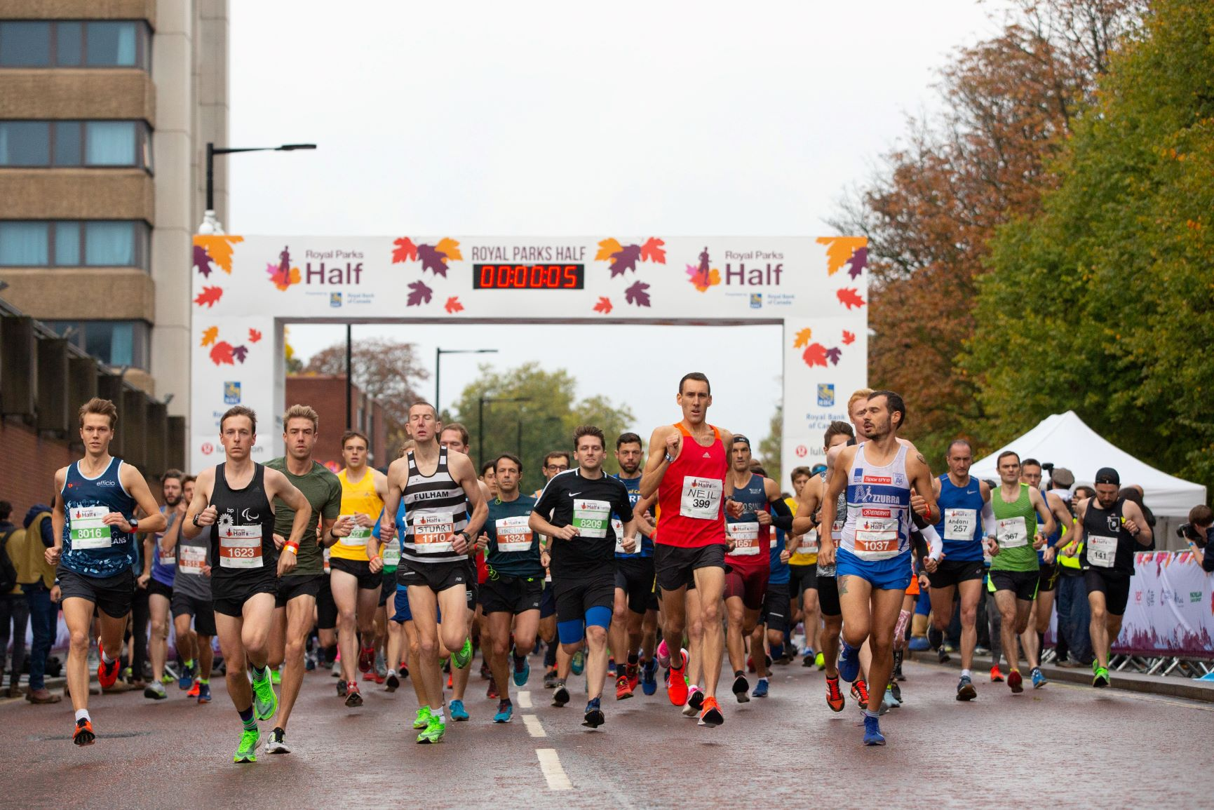 Royal Parks Half Marathon Start Line
