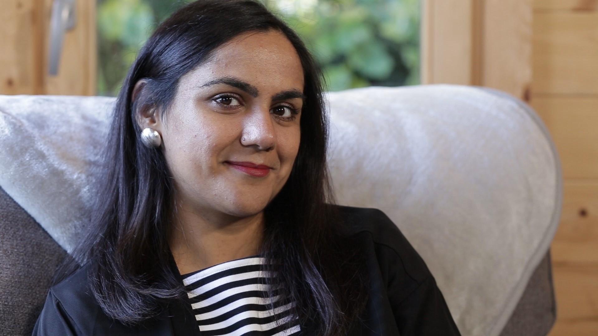 Saima smiling
