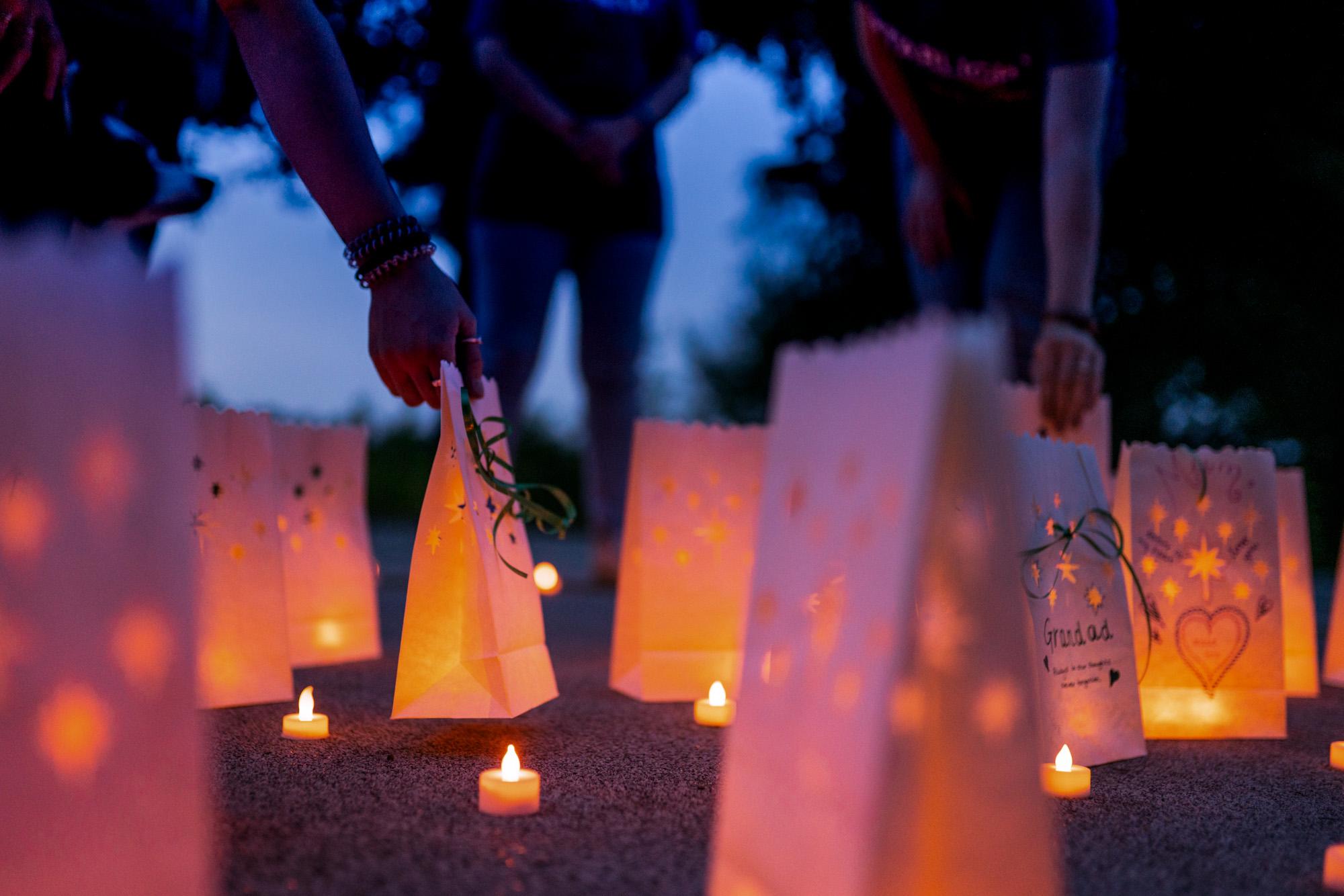 Starlight Stroll lanterns placed on the ground