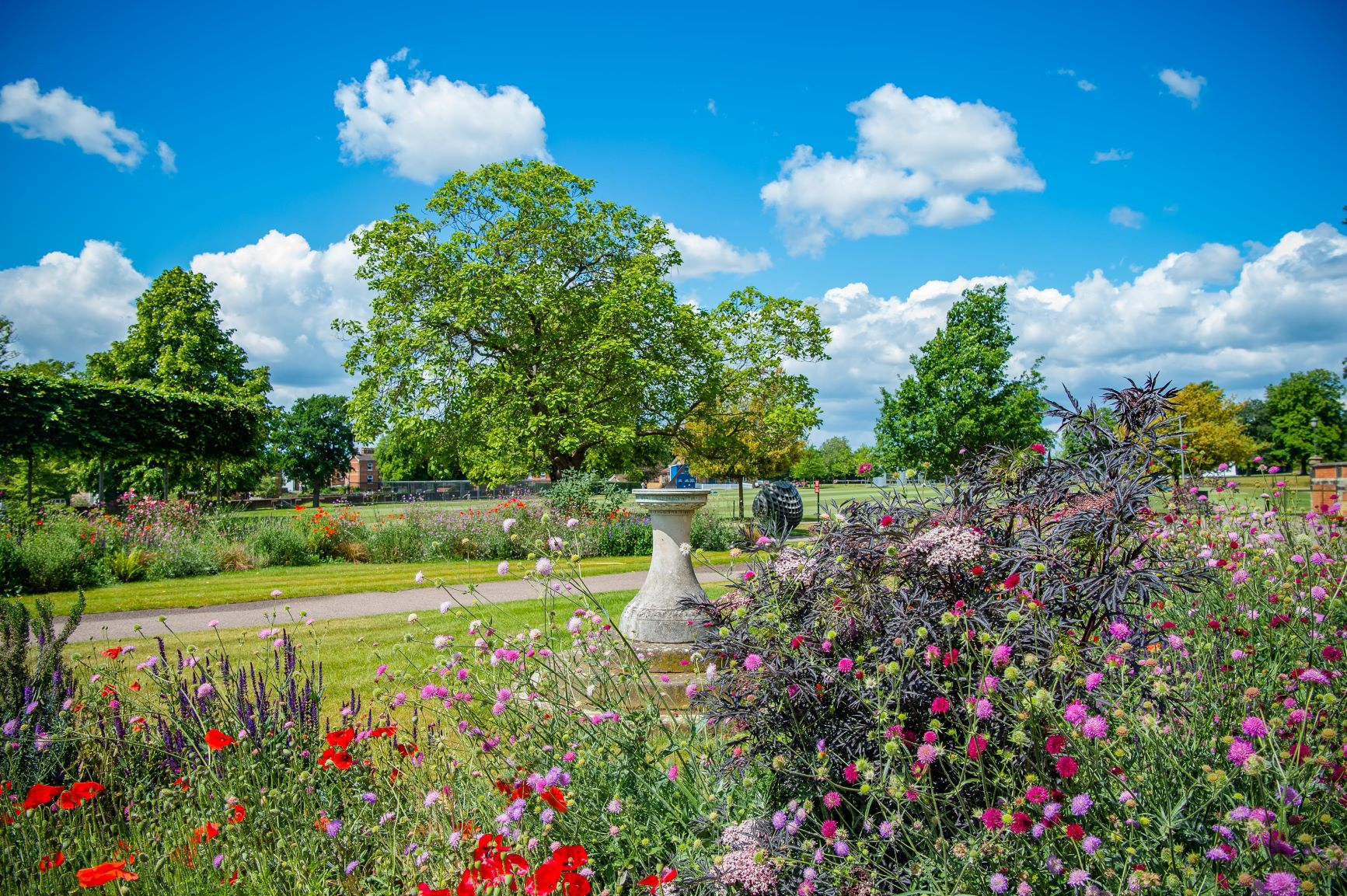 Tonbridge School Sun Dial in Gardens