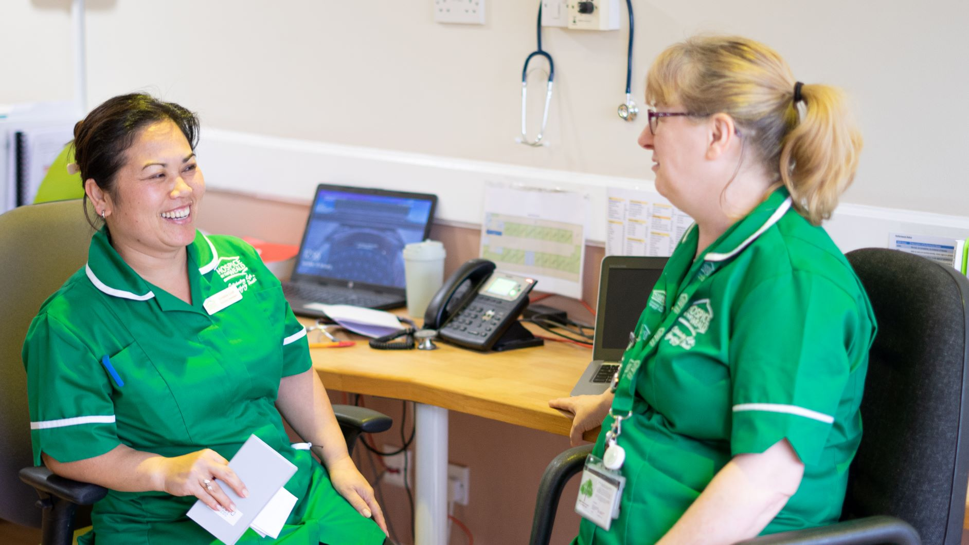 Two Nurses Chatting