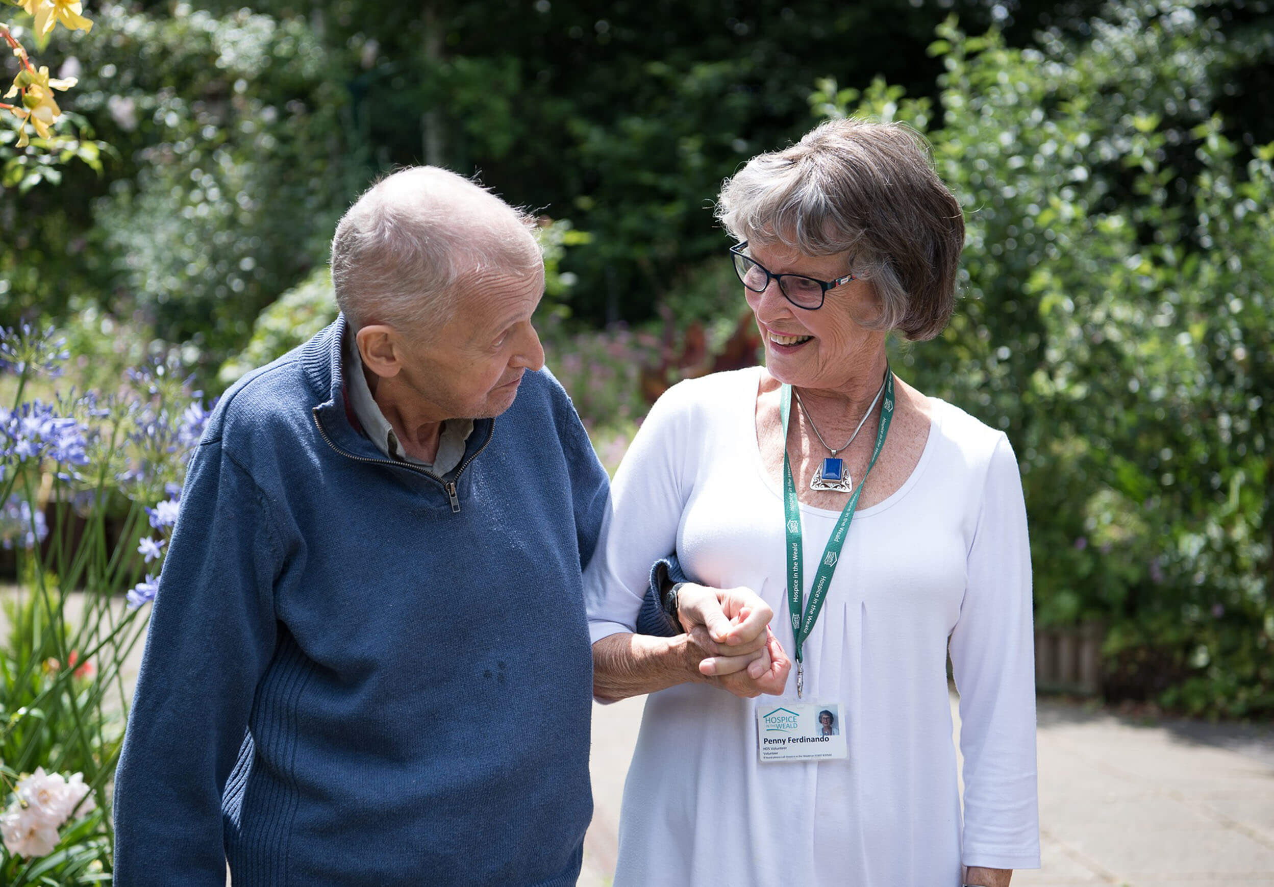 A hospice patient and careworker