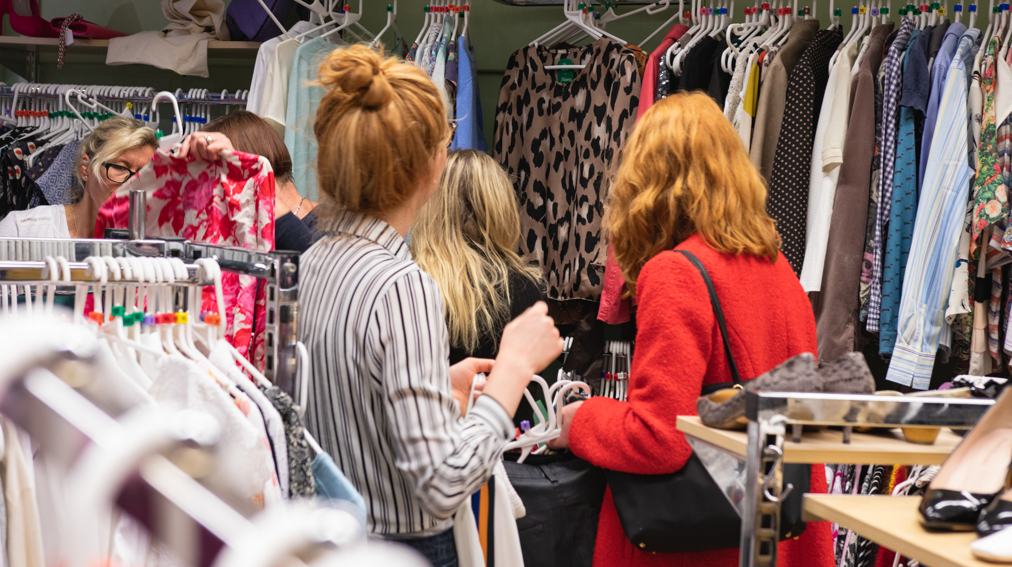 Shoppers in our camden road shop