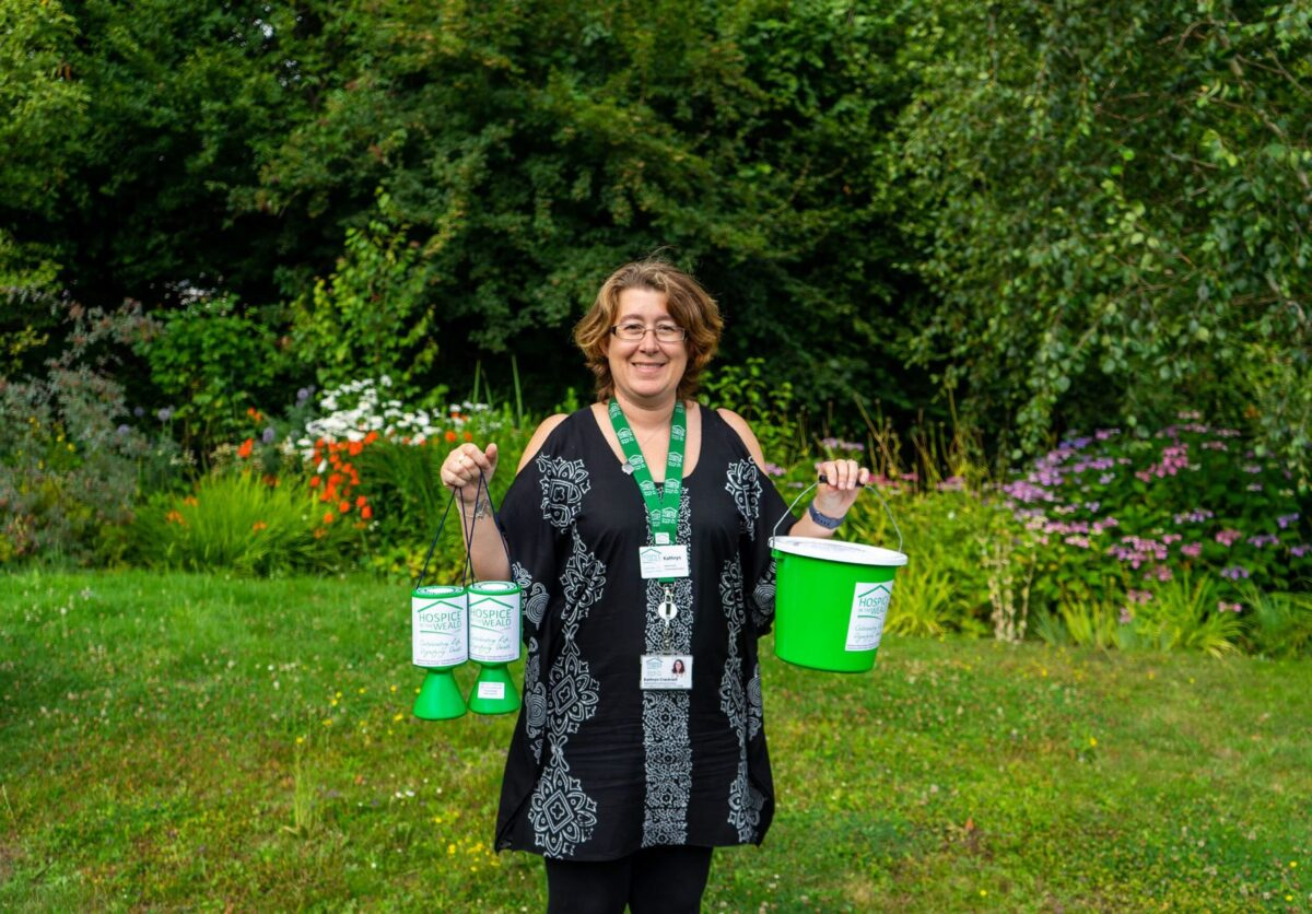 Fundraiser with collection pots