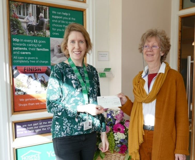 Lottery winner with Fundraiser Fiona