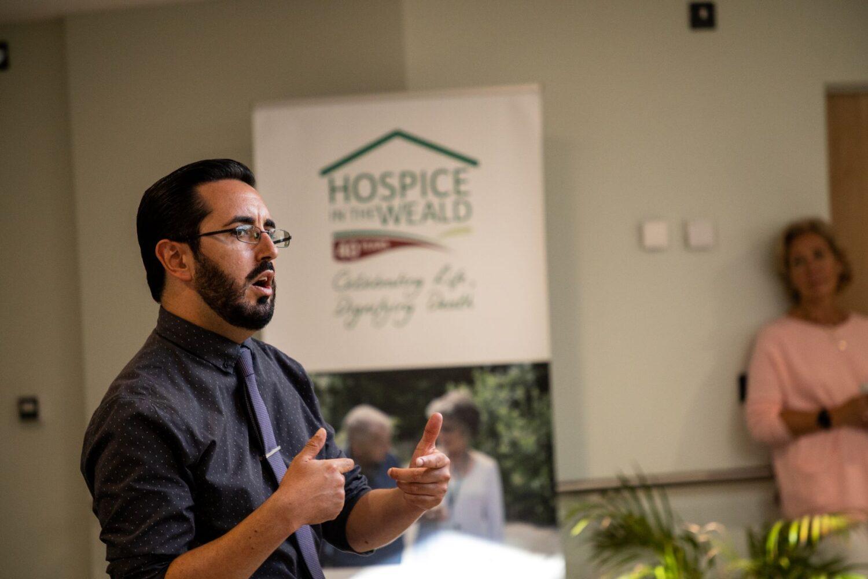 Nick Farthing celebration Cottage Hospice CQC