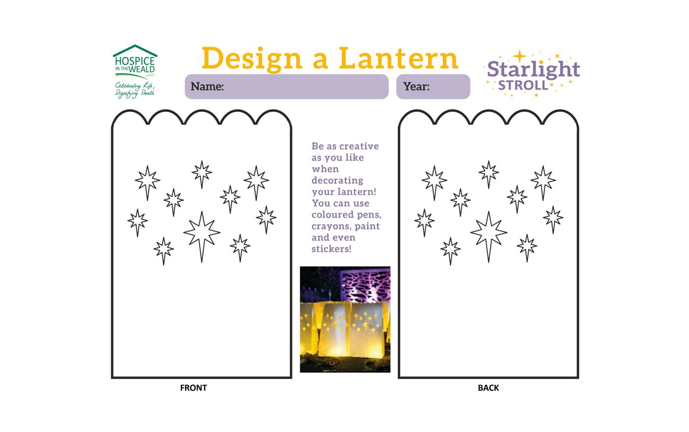 Design a Lantern - Smaller