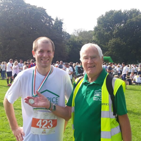 Glen and Grandson Ricky at Hospice Run