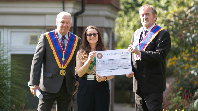 East Sussex Mark Master Masons Cheque Presentation