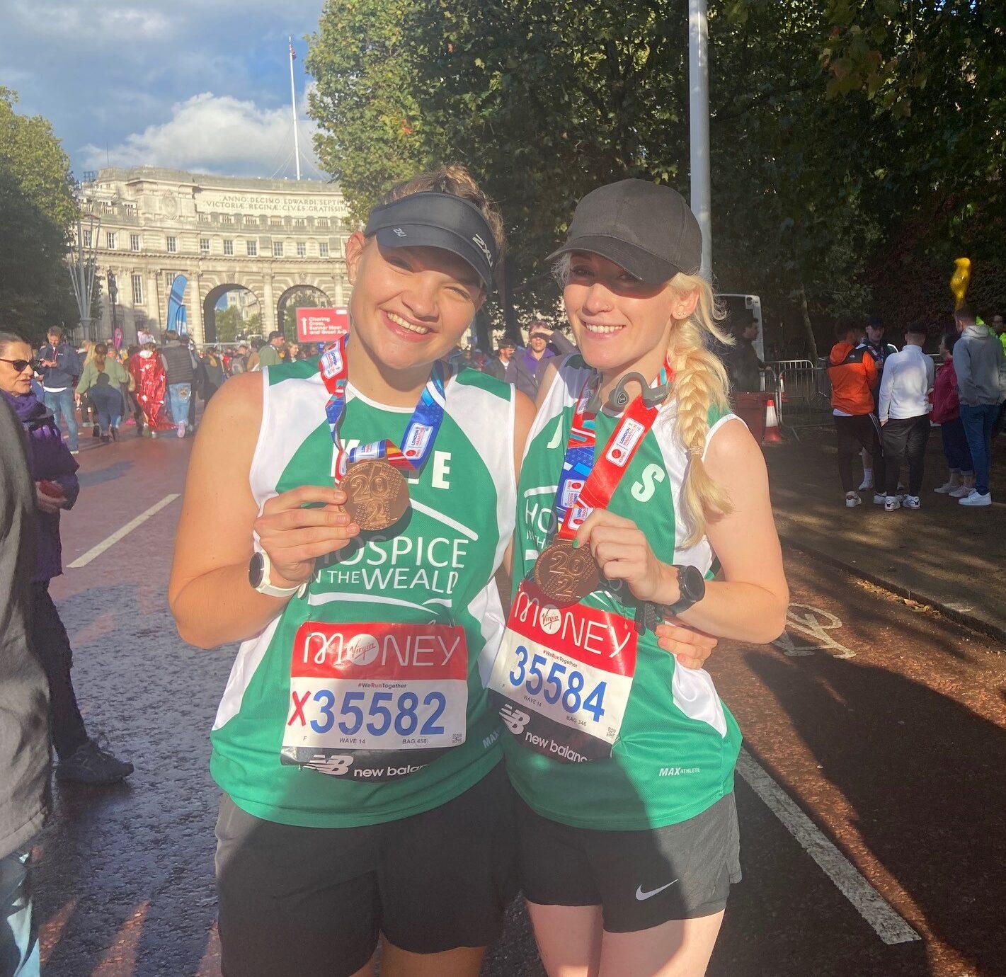 London Marathon Kate and Jess